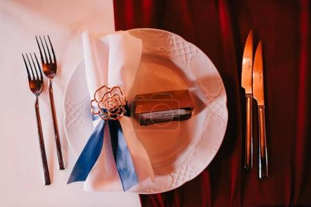 wedding table coverage decoration