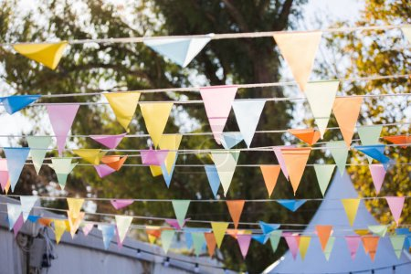 colourful flags decoration