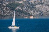 Perast islands in Kotor bay, Montenegr
