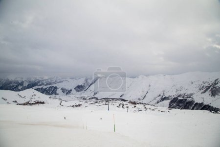 Caucasus Mountains, Georgia, ski resort Gudauri.