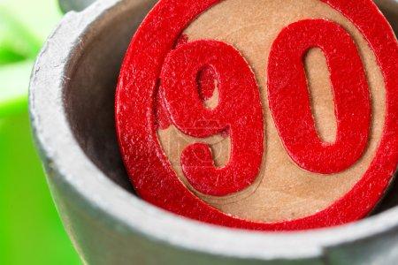 Ninety, red bingo number...