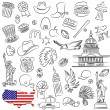 Vector symbols of USA...