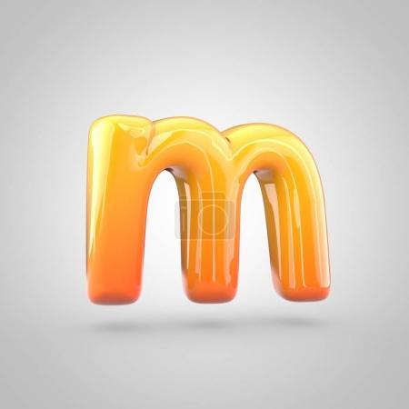 orange and yellow alphabet letter m