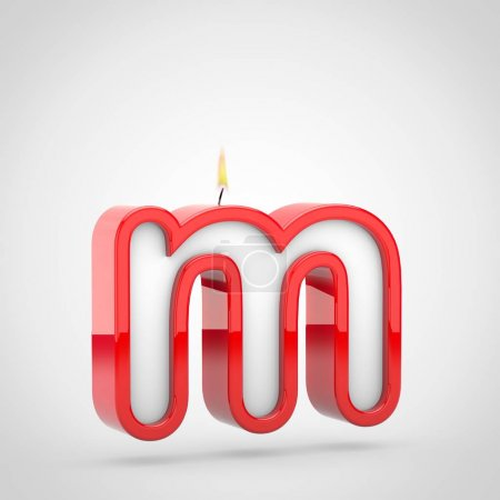 Birthday candle letter m lowercase