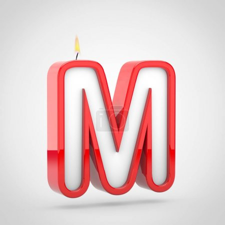 Birthday candle letter m uppercase