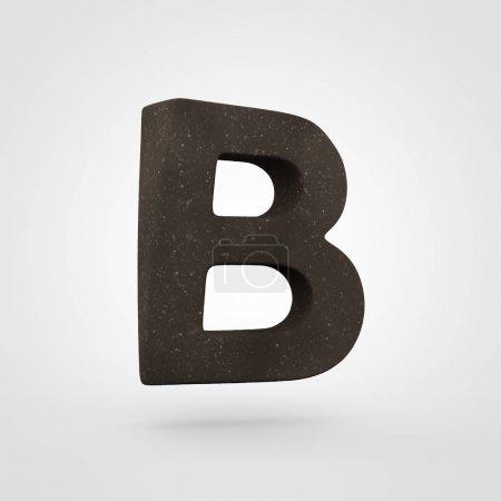 Lettre du sol B majuscule