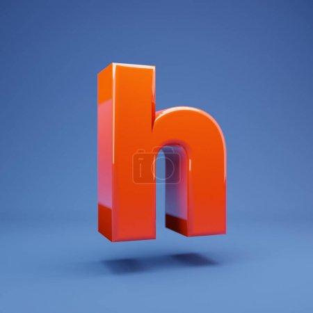 üppige Lava 3D Buchstaben h Kleinbuchstaben. 3D-Darstellung. am besten für Jubiläum, Geburtstagsfeier, Feier.