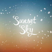 Vector sunset sky background with format eps10
