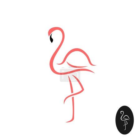 Flamingo elegant logo.