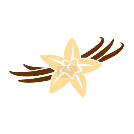 Illustration pour Illustration vectorielle design de Vanille fleur - image libre de droit