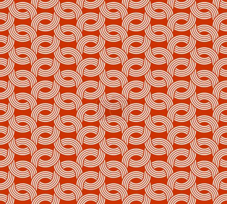 red Geometric weave lines