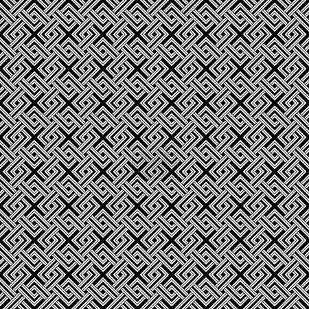 Black Geometric weave lines