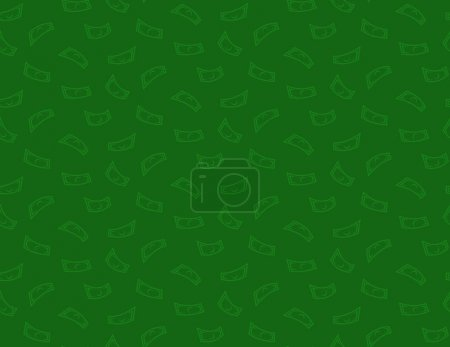 Illustration for Money green seamless pattern background with dollar or other currency flying notes - Royalty Free Image