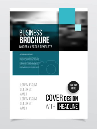 Illustration for Business Brochure design, vector illustration - Royalty Free Image