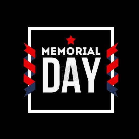Happy Day Memorial. Nous nous souviendrons toujours. Carte de voeux avec les lettres et l'arrière-plan