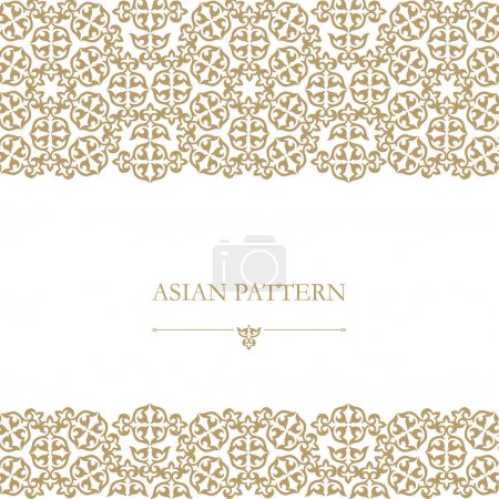 set Kazakh Asian ornaments and patterns.