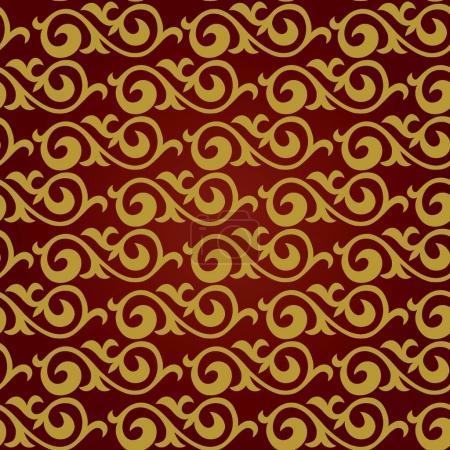 seamless pattern. East Asian motifs.