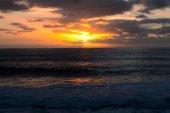 romantic sunset on the serene sea