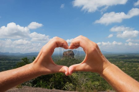 View on Sigiriya Rock Lion
