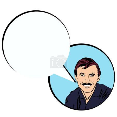 Illustration pour Entrevue d'embauche réussie dans l'emploi. Style pop art vectoriel lumineux et coloré - image libre de droit