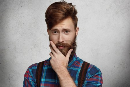 fashionable bearded man