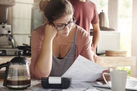 woman doing accounts