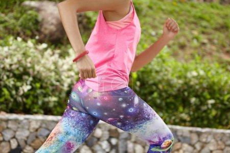 woman athlete training outdoors