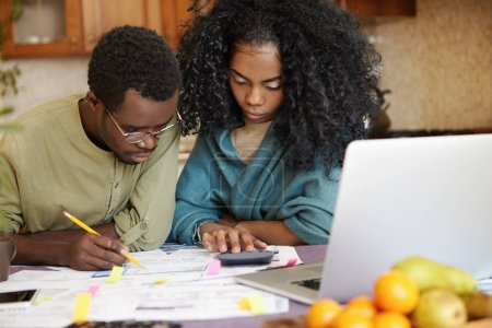 African family facing financial stress