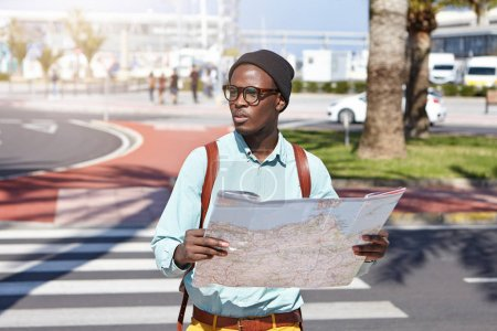 Afro American tourist