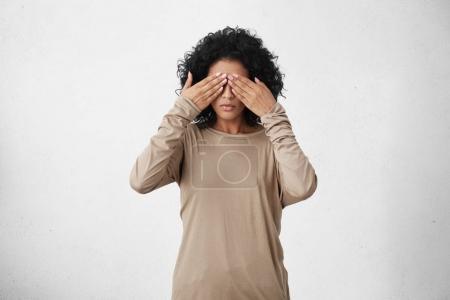 dark-skinned young female