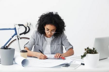 professional skilled Afro American female architect