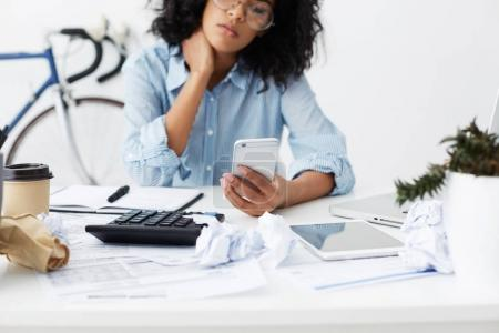 African American young female freelancer