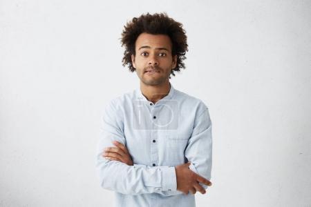 Peur jeune Afro américain