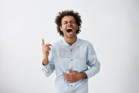 cheerful young African American male