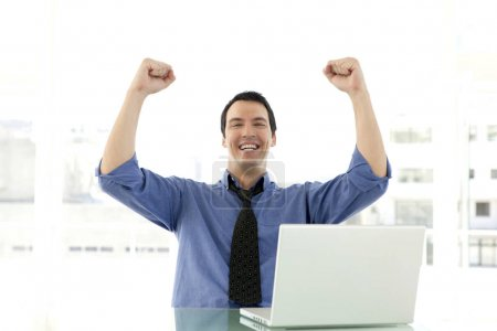 erfolgreicher Verkäufer am Arbeitsplatz