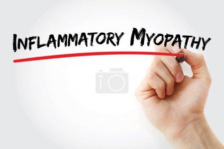 Myopathie inflammatoire par écriture manuelle