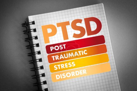 Photo for PTSD - Posttraumatic Stress Disorder acronym, medical concept background - Royalty Free Image