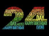 Happy 24th birthday word cloud