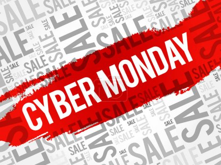 Cyber Monday words cloud