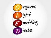 OLED Organic Light-Emitting Diode acronym concept