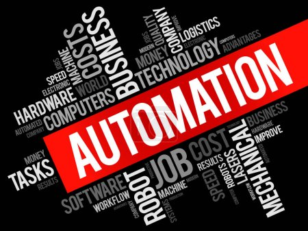 Automation word cloud collage