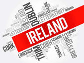List of cities in Ireland word cloud collage