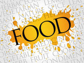 FOOD word cloud collage food concept background