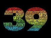 Happy 39th birthday word cloud