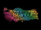 List of cities in Turkey word cloud