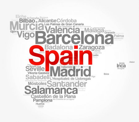 List of cities and towns in SPAIN