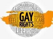 Gay rights circle word cloud