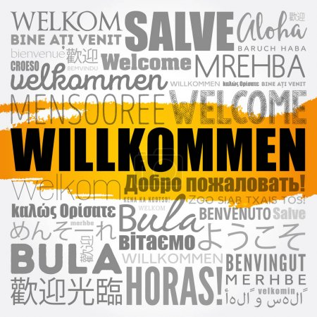 Willkommen, Welcome in German