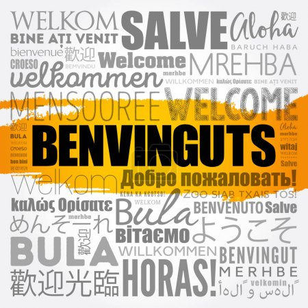 Benvinguts (Welcome in Catalan)
