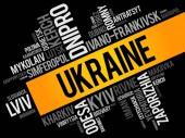 List of cities in Ukraine word cloud